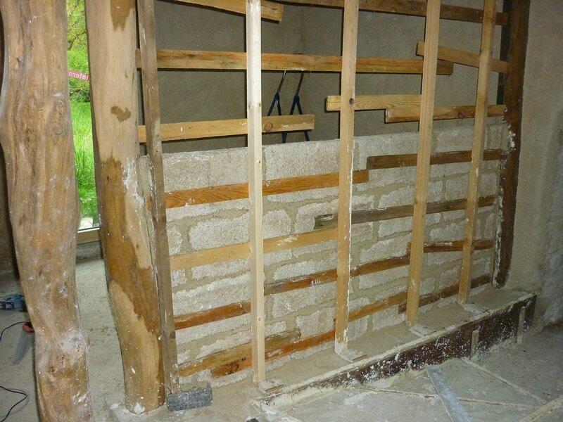 Renover une maison - longère - cloison chanvribloc 9