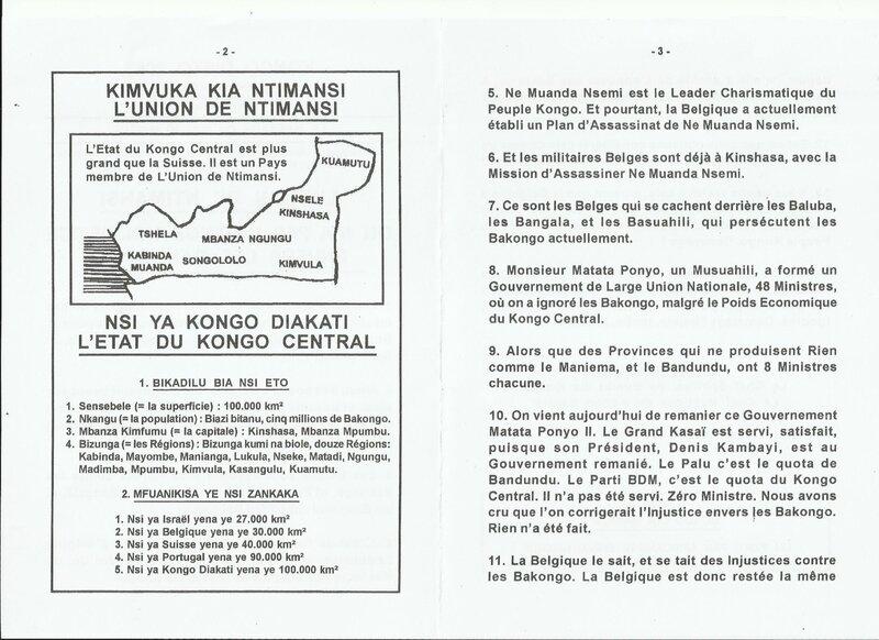 ON N'A PAS CORRIGE L'INJUSTICE ENVERS LES BAKONGO b