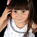 headband enfant rose et lin