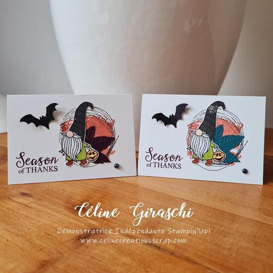 Carte remerciement Gnomes d'Halloween -11