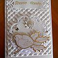 Carte de voeux tout en blanc