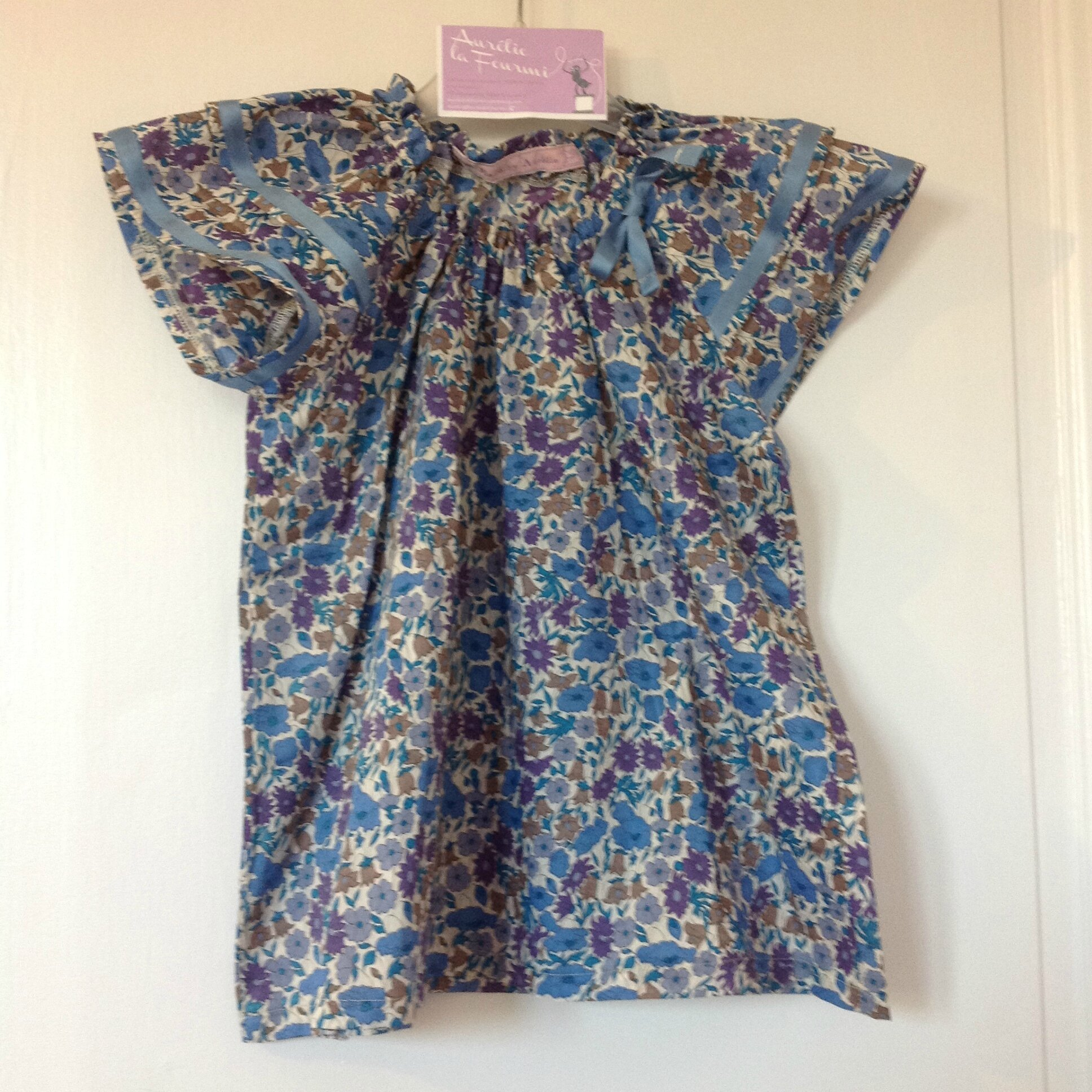 Blouse à volants liberty 8 ans 25€