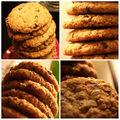 Cookies aux flocons d'avoine et pepites de chocolat