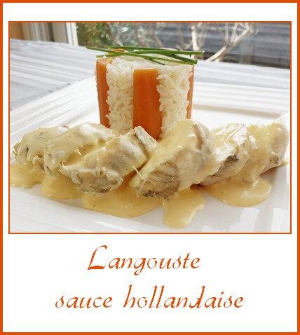 Langouste sauce hollandaise