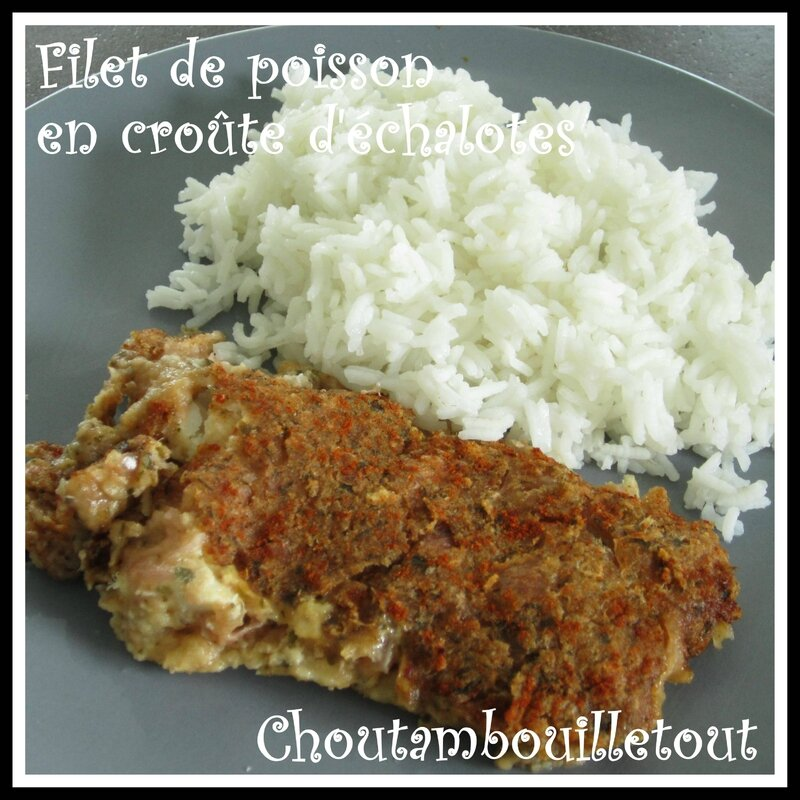 poisson croute échalote