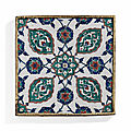 An iznik pottery tile, ottoman turkey, circa 1575