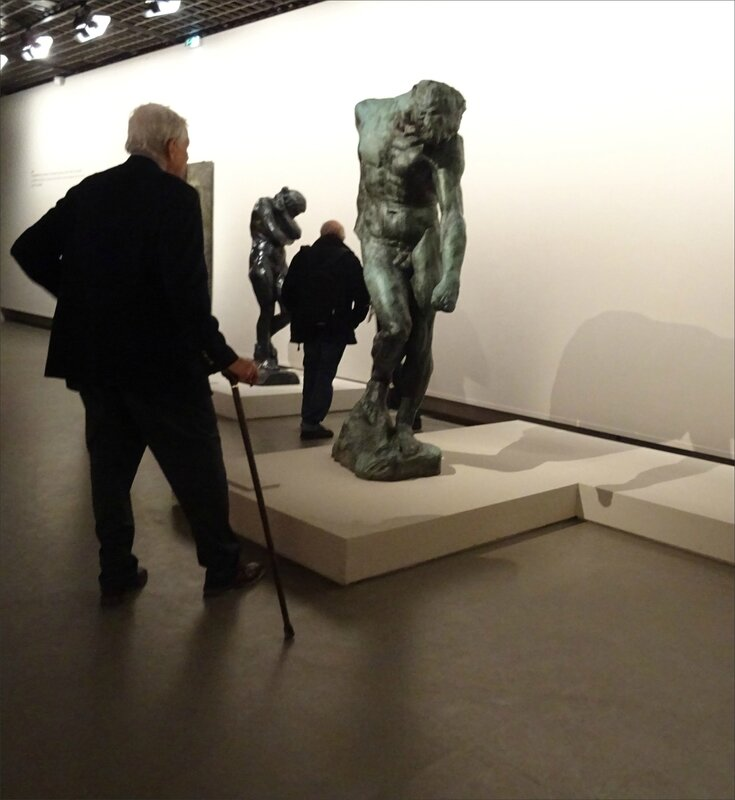Paris expo Rodin canne homme nu 240417