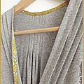 Robe burda jersey gris et capel moutarde4-1