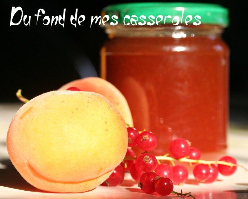 Confiture abricot groseille