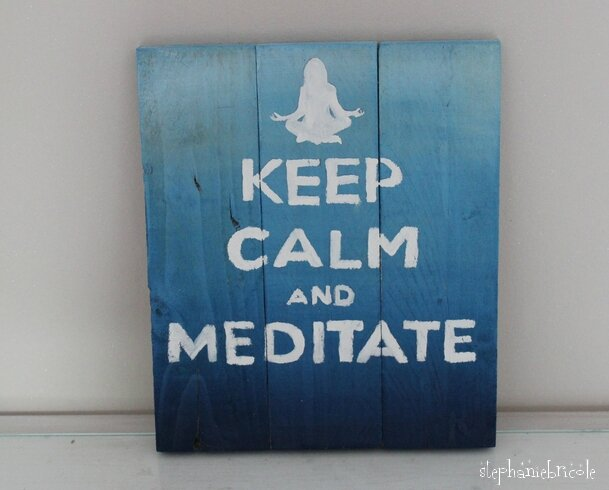 keep calm meditate ok