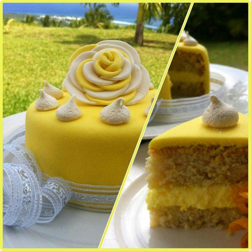 recette jaune by Johanne Payet quatre-quart au citron et à la banane