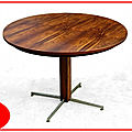 Table moderniste jacaranda palissandre jorge zalszupin design 1960