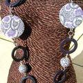 sautoir violet gris