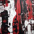 Peinture abstraite au couteau - acrylique