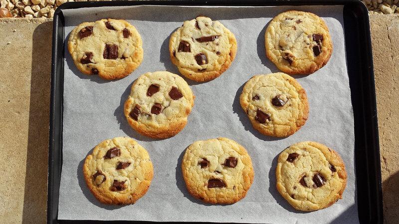 Cookie lait concentré sortie four