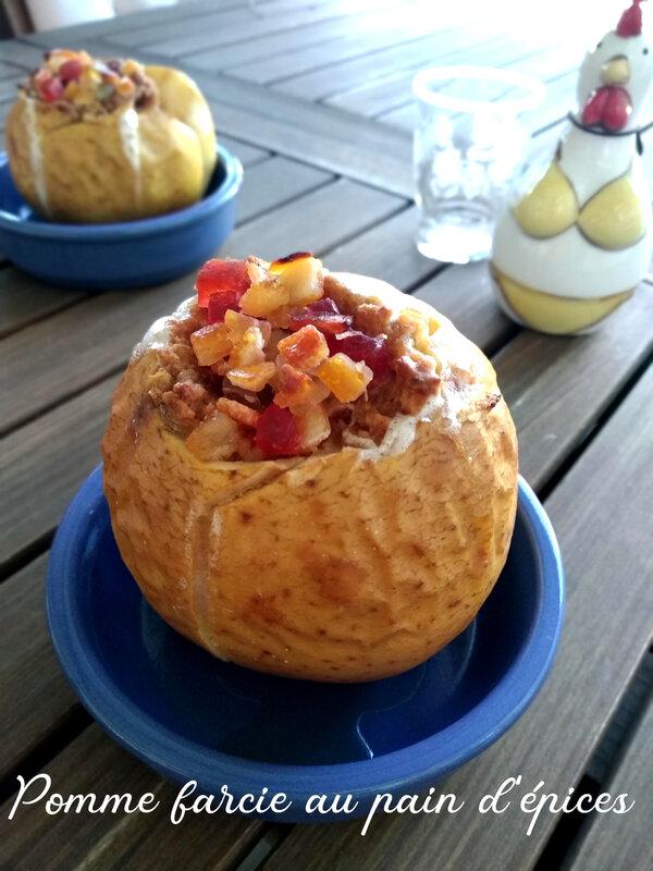 pomme farcie au pain d'épices1