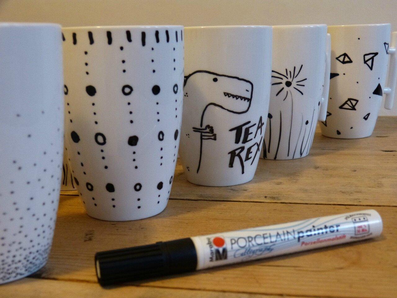 Tuto Peinture Sur Porcelaine les cadeaux de tante crise, des tasses en porcelaine
