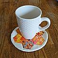 Un mug rug fleuri