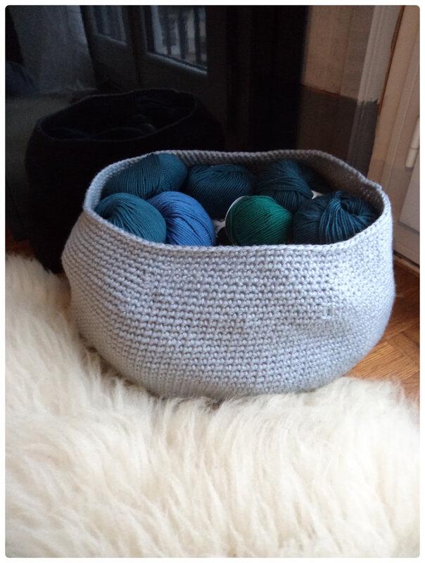 Grosse paniere au crochet Cam&Drey bricolent