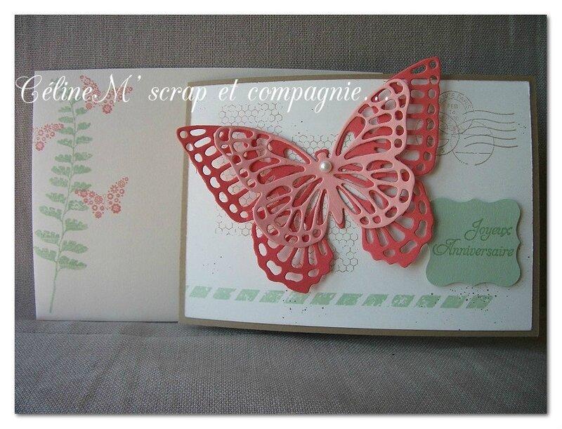 carte papillon corail