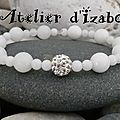 Quoi de plus joli que la pureté du blanc que l'on peut mettre avec toutes les tenues ! avec ce bracelet blanc en perles d'opale