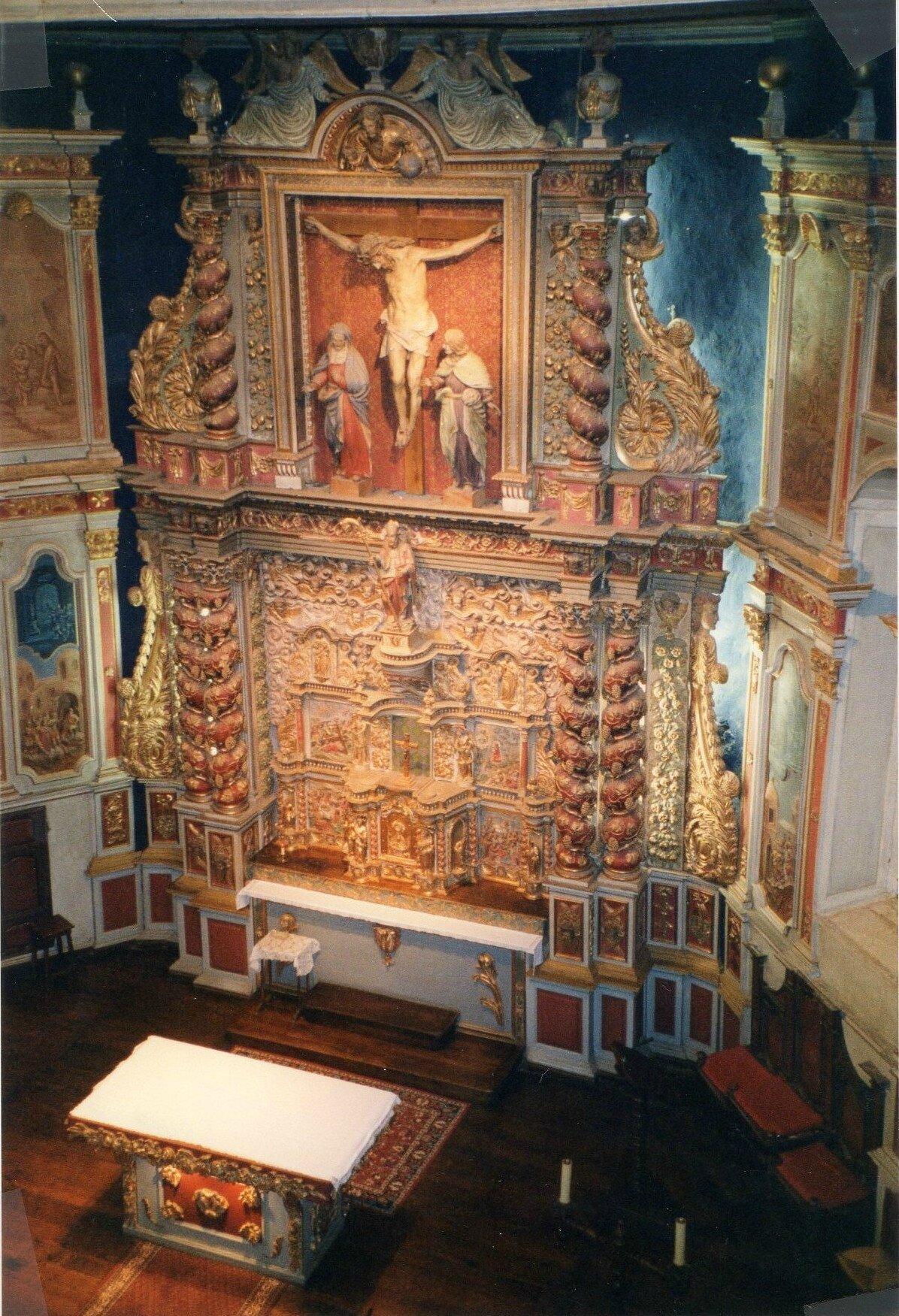 Itxassou, église, retable (64)