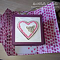 Carte cube pop up St Valentin - cube