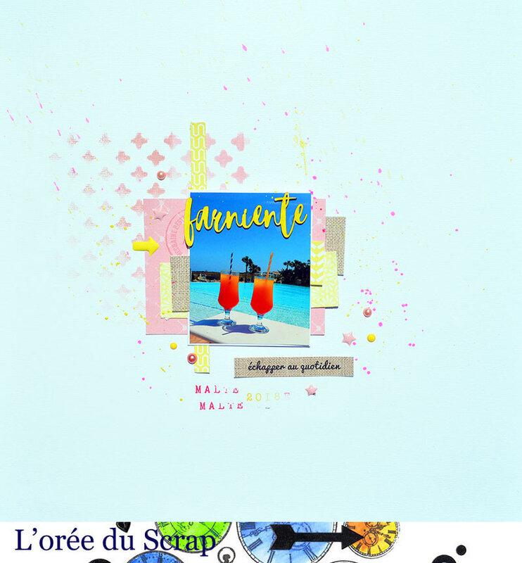 blogorel cardscrap&diy ciombo rose jaune marron