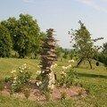 petite sculpture au jardin....