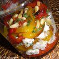 Verrines de poivrons au chevre frais