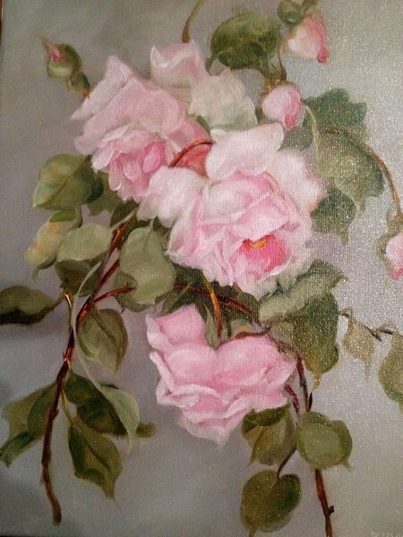 roses Dawn Barnes antique-wallpaper-roses-vintage