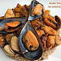 Moules terre-mer*, potimarron et chorizo
