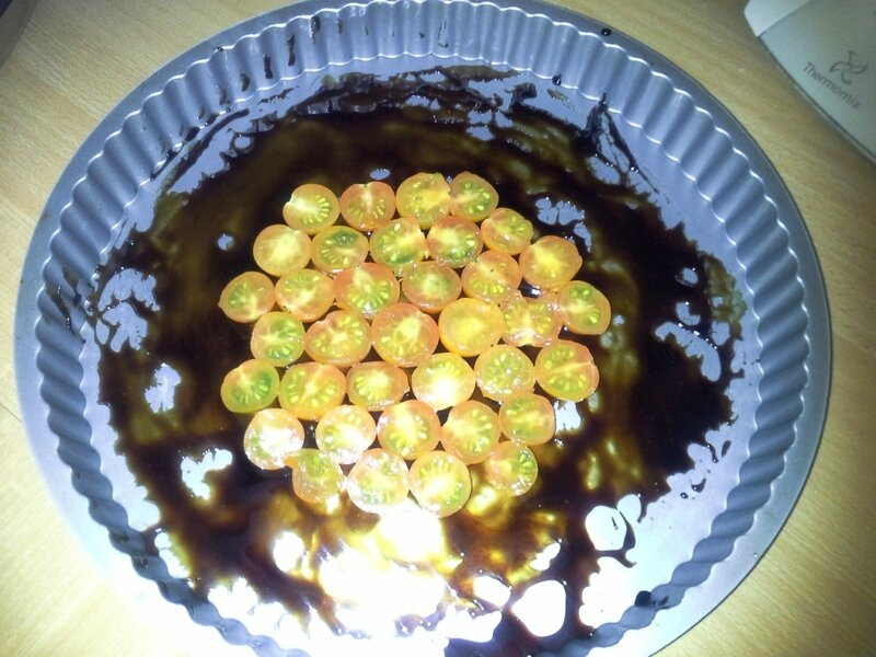 Tarte tatin tomates cerises caramélisées au Basalmique (3)