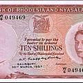 Rhodesie et nyassaland - 1957