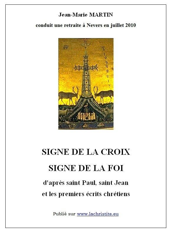 Signe de la croix par J-M Martin