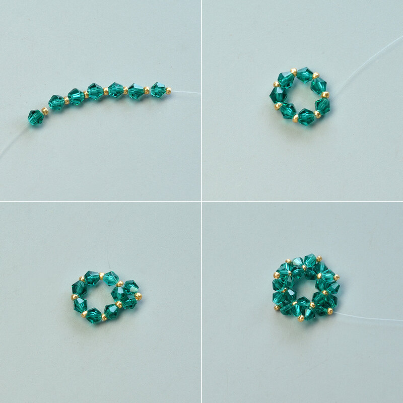 Instructions-on-Making-Glass-Bead-Stitch-Flower-Pendant-Necklace-2