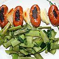 Brochette de saucisses fraîches à la basque