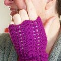 Snood_mitaines violet 4