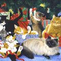 Les chats de noël