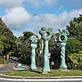 Rond-point à auckland (nouvelle zélande)