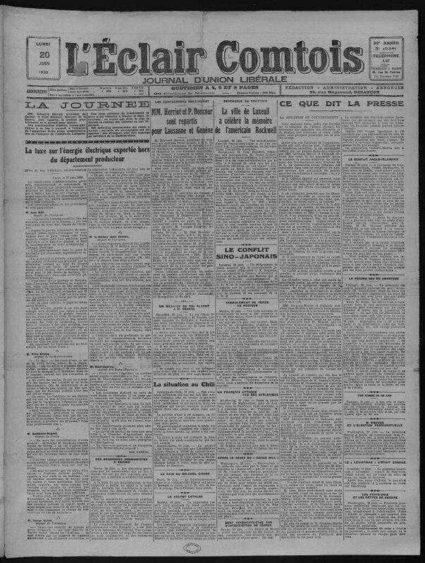 pergaud éclair comtois 20 juin 1932
