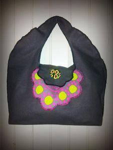 sac gris rose vert