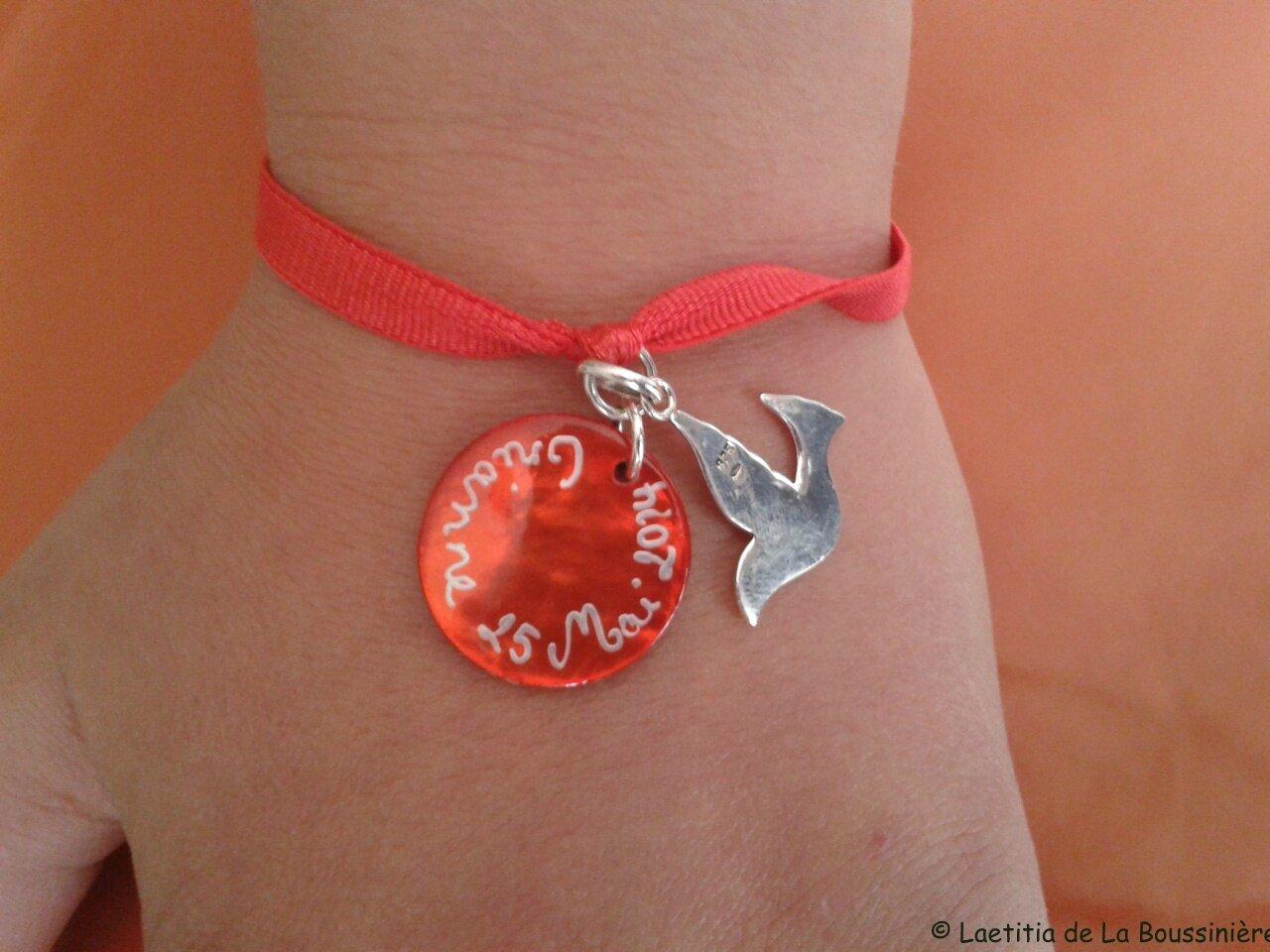 Le bracelet d'Orianne pour sa Confirmation