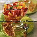 salade de fraises à l'orange