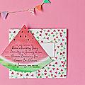 Des cartes d'invitations et des enveloppes avec des pastèques (à imprimer - gratuit)