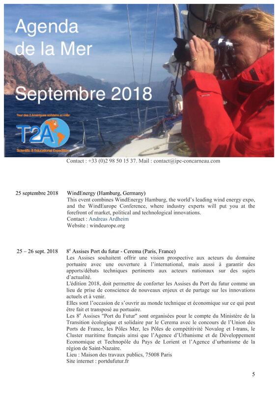 Agenda de la mer septembre 2018 page 5:5