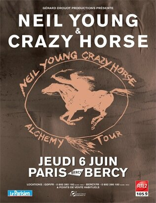 1996 07 Neil Young POP Bercy Affiche
