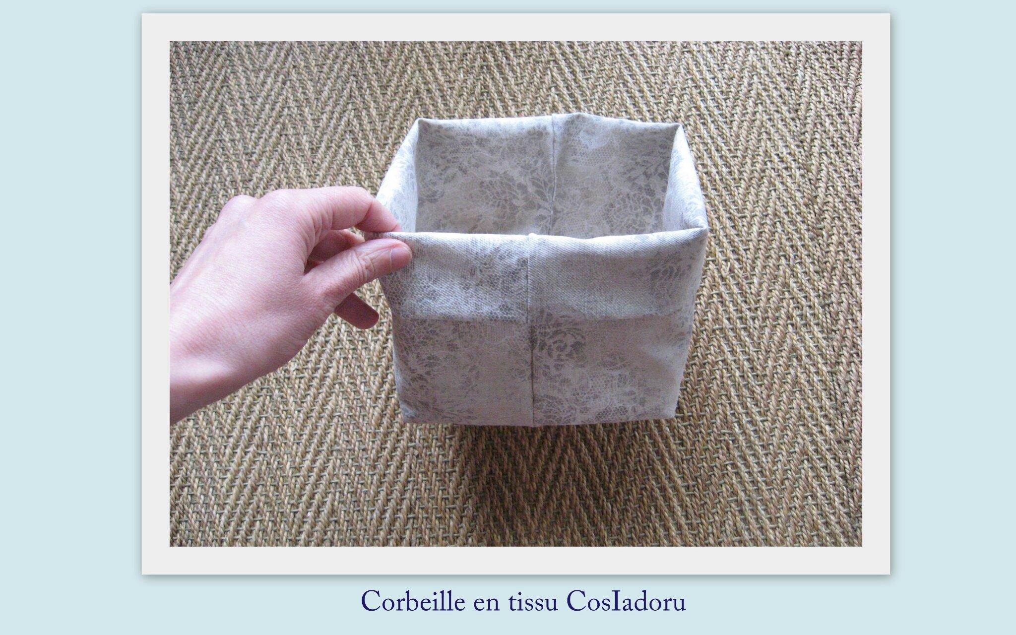 Corbeille en tissu2