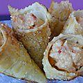 Cornets en pâte brisée