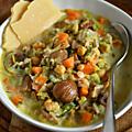 Excellente soupe de châtaignes & pois chiches